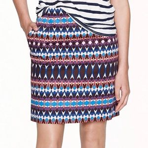 J.Crew Salon Mini Skirt Geometric Gemstone Print
